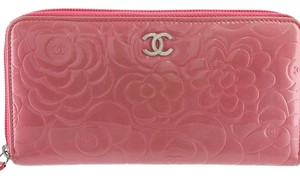 Chanel Camellia Patent Leather Wallet