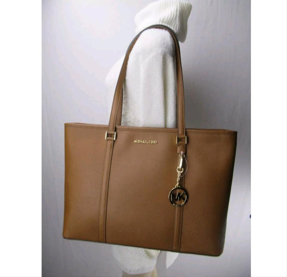 47188a45ac Michael Kors Sady Large Multifunctional Top Zip Laptop Brown Luggage  Leather Tote - Tradesy