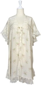 Dior short dress White Lace Floral Peignoir Lingerie Robe on Tradesy