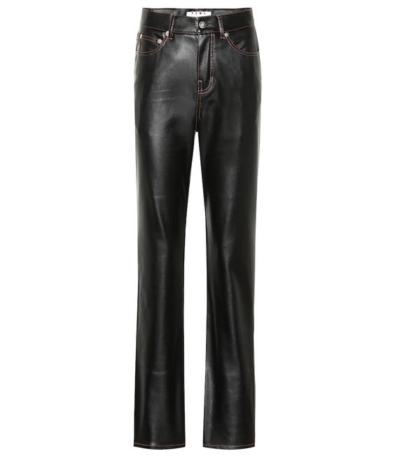 Item - Black Metallic Leather with Zippers and Inserts Pants Size 6 (S, 28)