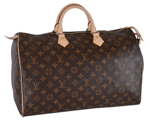 Louis Vuitton Lv Purse Lv Speedy Speedy 40 Satchel in Brown