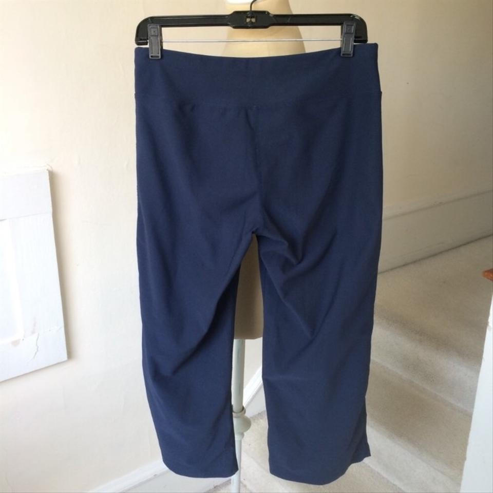 4c8065ae582 lucy Navy Blue Cropped Flare Yoga Pants Euc Activewear Bottoms Size 4 (S)