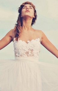 Grace Loves Lace Ivory and Tulle Loren Casual Wedding Dress Size 4 (S)