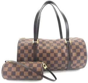 Louis Vuitton Papillon Set Papillon Canvas Satchel in Damier Ebene