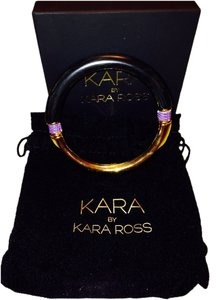 Kara by Kara Ross Ebony Resin with Gold Washed Purple Lizard Split Circle