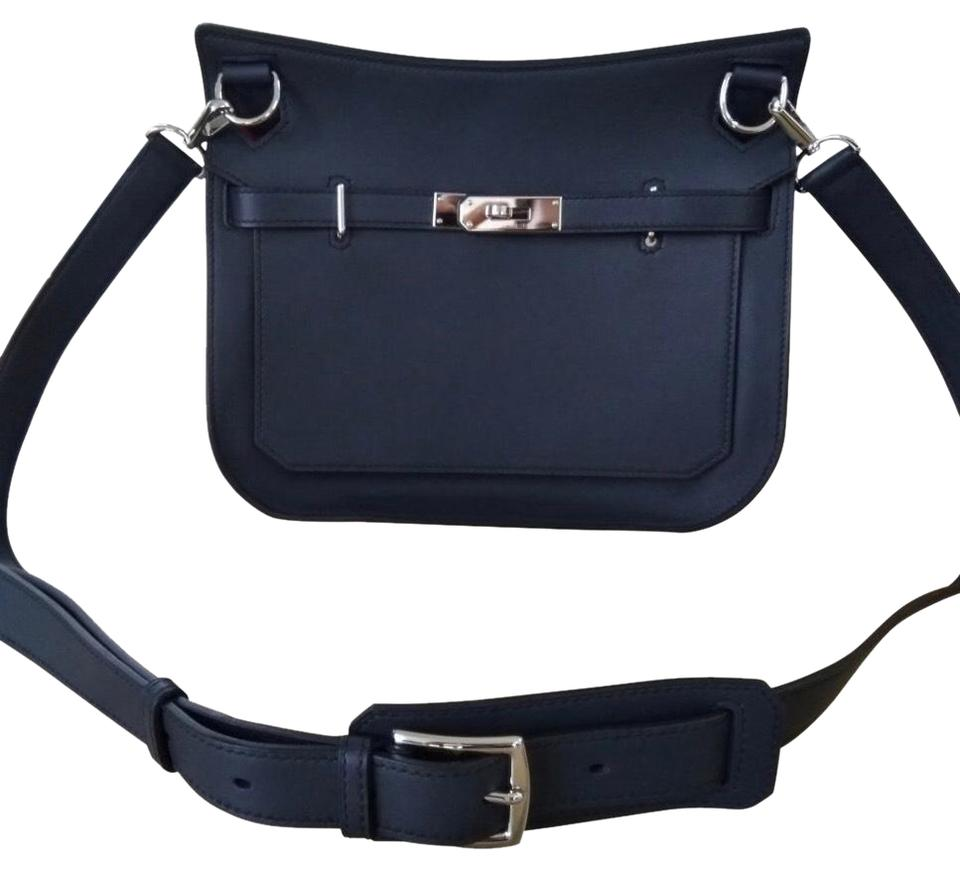 e3cd1207db Hermès Jypsiere 28 Indigo Blue Calf Swift Leather Cross Body Bag ...