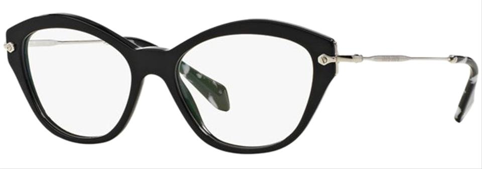 31649936954 Miu Miu Black Frame   Demo Lens Women Cat Eye Eyeglasses - Tradesy