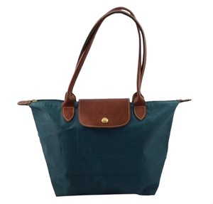 Longchamp Le Pliage Green Blue Tote in Teal
