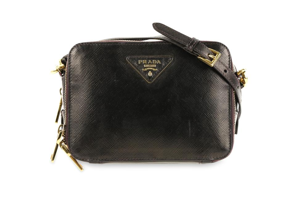 1f11b7d1c952 Prada Lux Saffiano Camera Black Leather Cross Body Bag - Tradesy