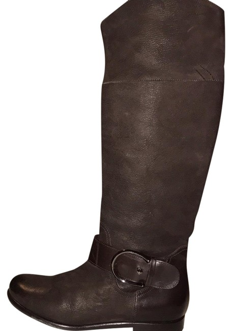 Item - Brown Waxed Leather Riding Boots/Booties Size US 6.5 Regular (M, B)
