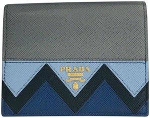 Prada Color block zig zag wallet