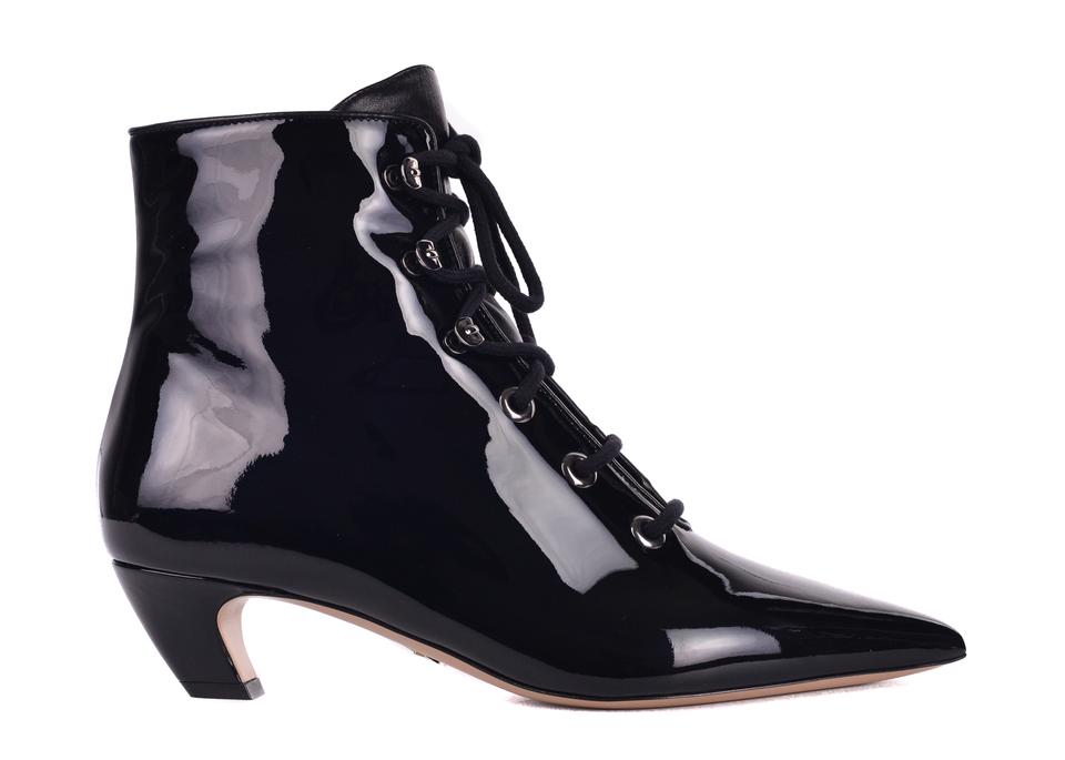a7f191623fb7 Dior Black Womens Patent Leather Lace Up C3309 Boots Booties Size US ...