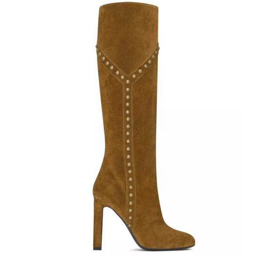 Preload https://img-static.tradesy.com/item/24615060/saint-laurent-fox-tan-brown-grace-105-y-studded-suede-ysl-bootsbooties-size-eu-385-approx-us-85-regu-0-0-540-540.jpg