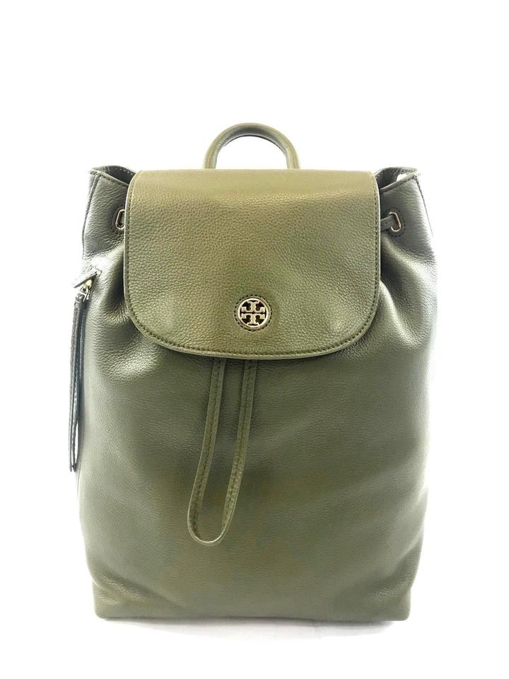 31d64f350820 Tory Burch Brody New (43508) Banana Leaf Pebbled Green Leather Backpack