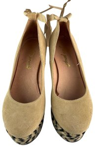 Free People Beige Wedges