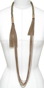 Lanvin LANVIN Necklace Chain Tassel Brass Copper Multi-Strand Jewelry