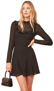 Reformation Cocktail Long Sleeve Shirt Dress