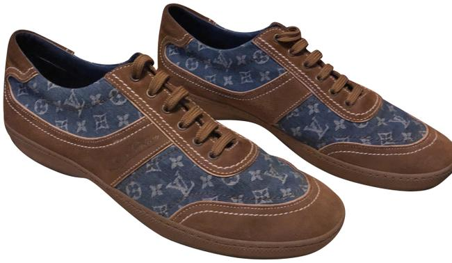 Item - Monogram Denim & Camel Suede Sneaker / Formal Shoes Size US 10.5 Regular (M, B)