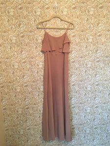 Jenny Yoo Whipped Apricot Crepe De Chine Blake Feminine Bridesmaid/Mob Dress Size 4 (S)
