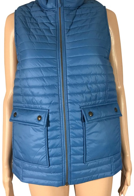Vineyard Vines Solid Blue Quilted Puffer Bed Vest Size 0