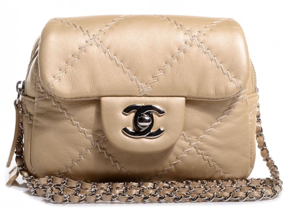 e610be91990e Chanel Classic Flap 2.55 Reissue Mini Woc Wallet On A Chain Quilted  Ultimate Stitch Gold Calfskin Leather Cross Body Bag