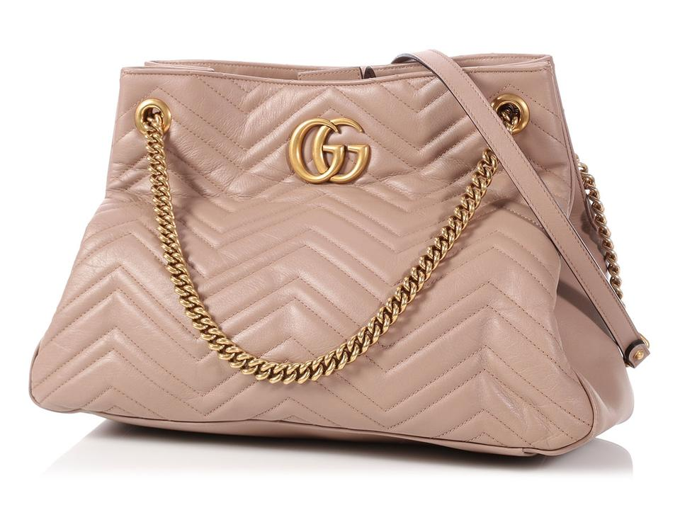 5057fb9dedd2 Gucci Marmont Matelasse Quilted Gg Porcelain Rose Beige Leather ...