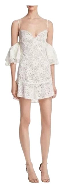 Item - Ivory And Lace Matador Short Cocktail Dress Size 4 (S)