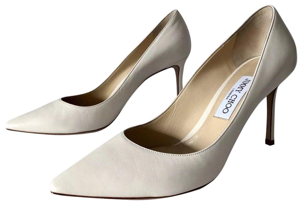 8a1a45240a8 Jimmy Choo Chalk Romy 85mm Kid Leather Pointy Pumps Size EU 40.5 (Approx.  US 10.5) Regular (M, B) 61% off retail