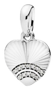 PANDORA 397286CZ FAN OF LOVE PENDANT, CLEAR CZ
