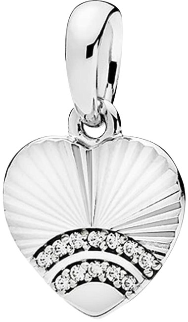 Item - Silver 397286cz Fan Of Love Pendant Clear Cz