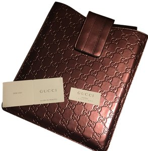 Gucci GG Red Patent Leather Shine IPad Case Red