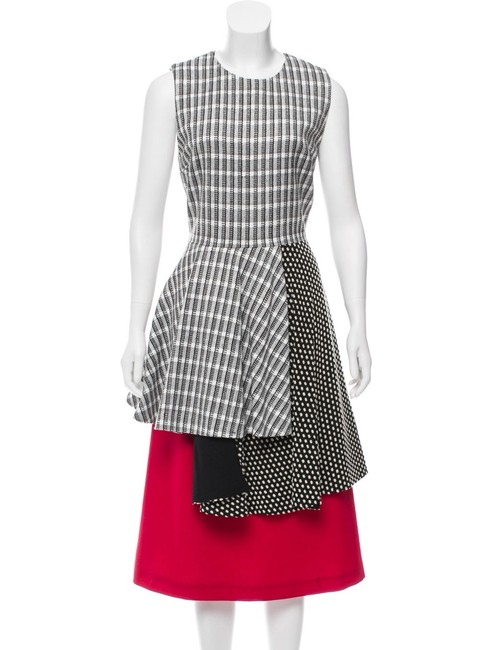 Item - Red White Black Saterlee Sleeveless Layered Skirt Long Night Out Dress Size 4 (S)