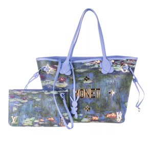 Louis Vuitton Monet Jeff Koons Neverfull Limited Edition Van Gogh Tote in Light Blue