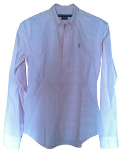 Ralph Lauren Button Down Shirt pink & white stripes