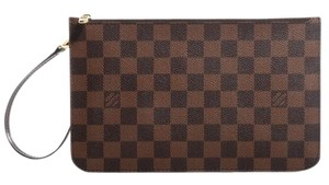 Louis Vuitton Neverfull Monogram Luxury Leather European brown Clutch