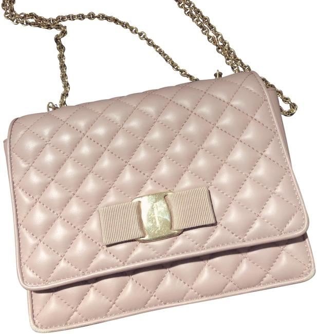 Item - Ginny Quilted Pink Lambskin Leather Cross Body Bag