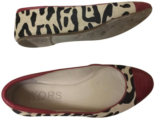 Item - Leopard Brown Red By Pony Hair Flats Size US 8.5 Regular (M, B)