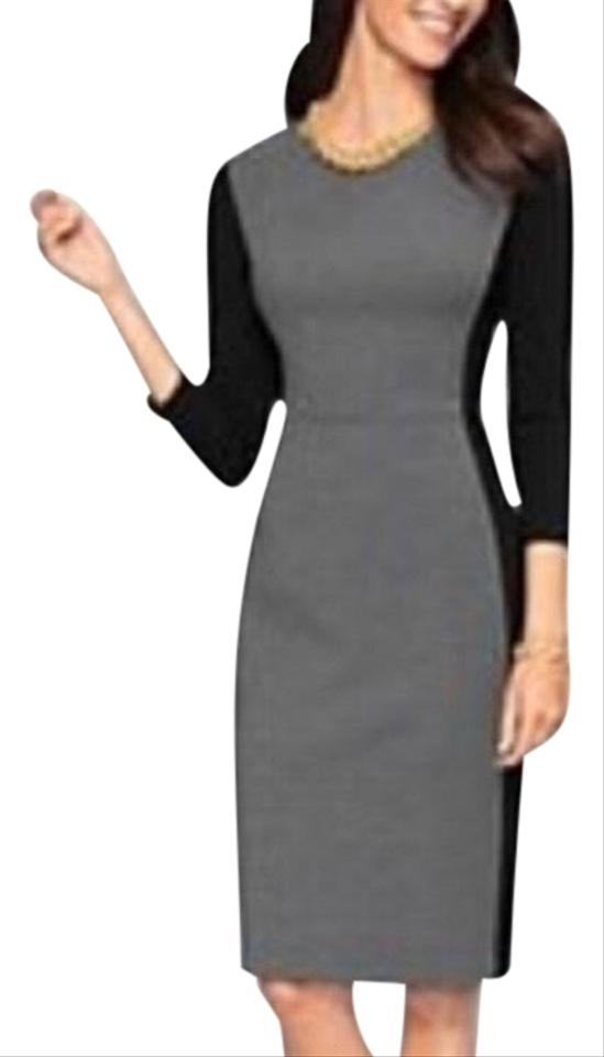 f11567dcaa7 Talbots Black and Grey Color Mid-length Cocktail Dress Size Petite 4 ...