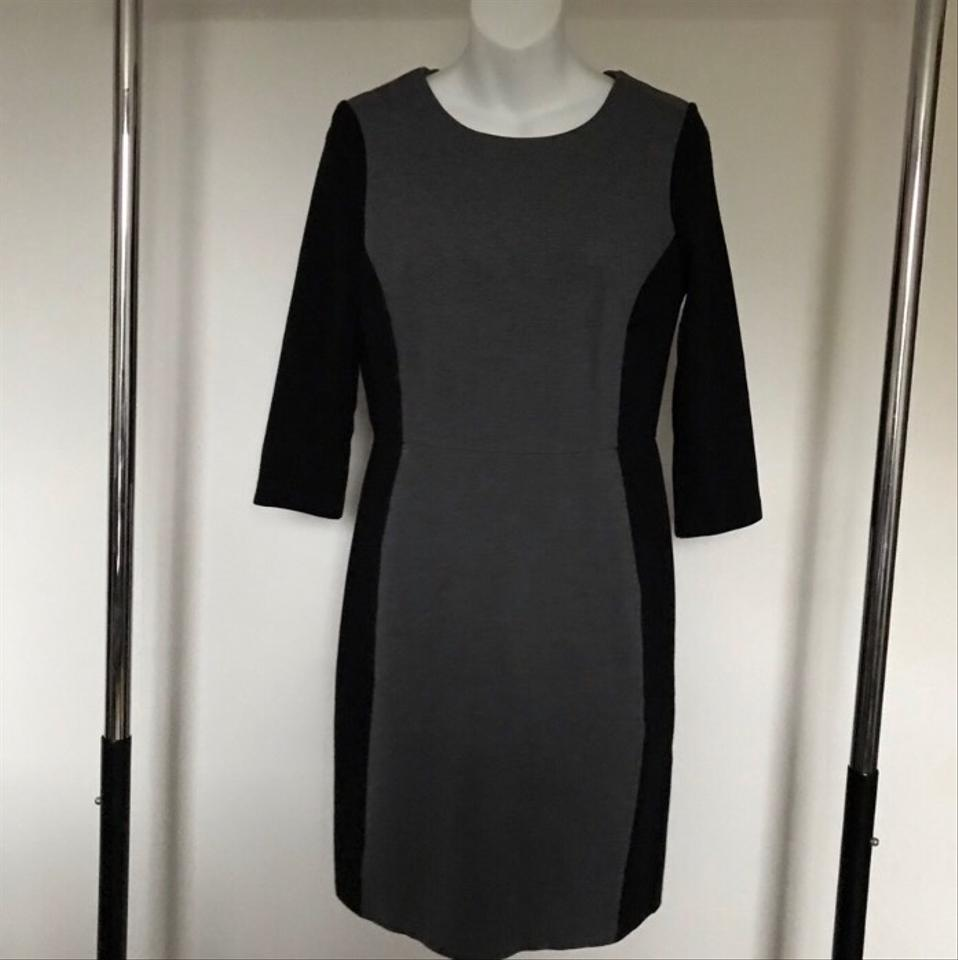 2445a9dec2a Talbots Black and Grey Color Mid-length Cocktail Dress Size Petite 4 (S) -  Tradesy