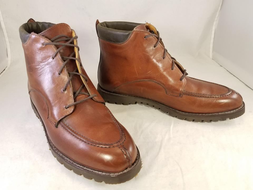 3fdffded428 Cole Haan Brown Country Woman B Leather Vibram Mint Boots/Booties ...
