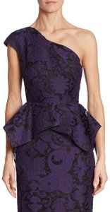 Roland Mouret Top Violet black