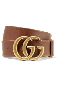 Gucci Leather belt with Double G buckle Wide 80