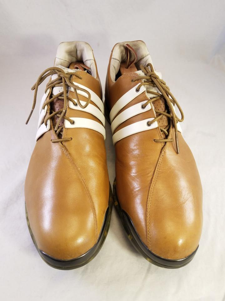 ad84592f9b6 adidas Tan Mustard Golf Leather Tour Soft Spikes 48 13 Sneakers Size US 13  Regular (M