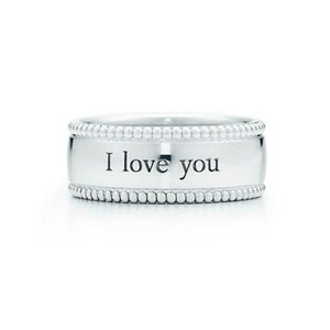 Tiffany & Co. I love you band beaded ring
