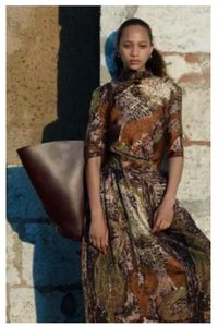 Brown Silk Maxi Dress by Céline