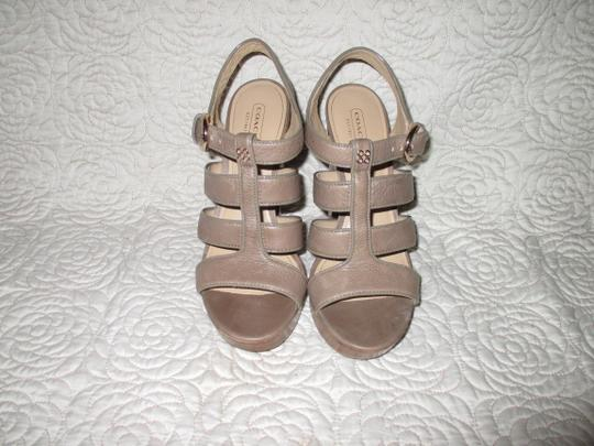 Coach taupe Sandals