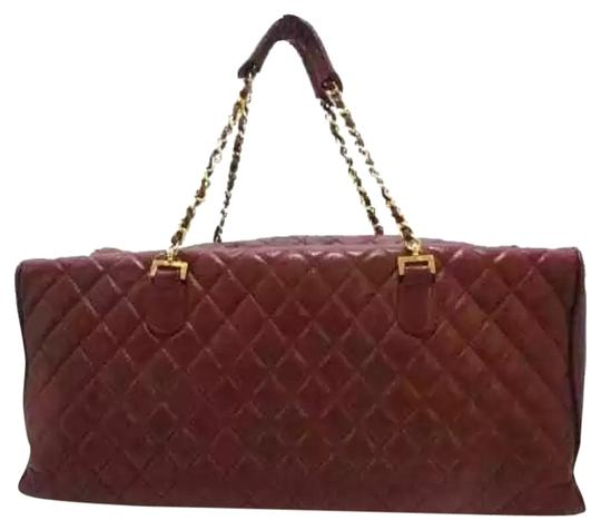 Preload https://img-static.tradesy.com/item/24618023/chanel-matelasse-bordeaux-large-formal-luxury-handbag-maroon-lambskin-leather-satchel-0-1-540-540.jpg