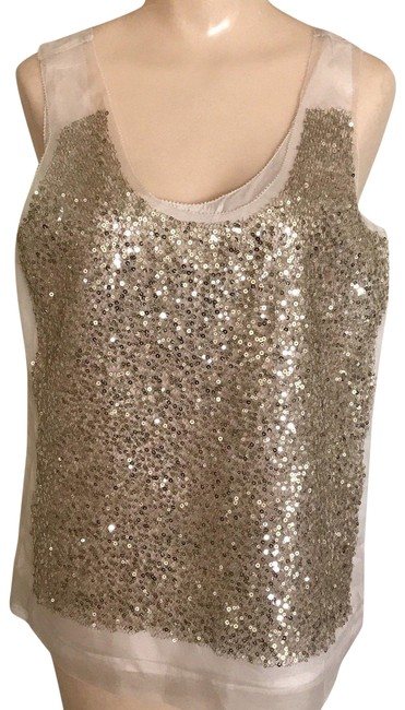 Preload https://img-static.tradesy.com/item/24618046/jcrew-ivory-floating-sequin-double-layer-women-s-blouse-tank-topcami-size-8-m-0-1-650-650.jpg