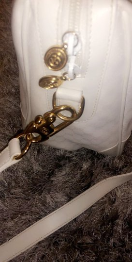 Gucci Vintage Gg Satchel in White/Gold