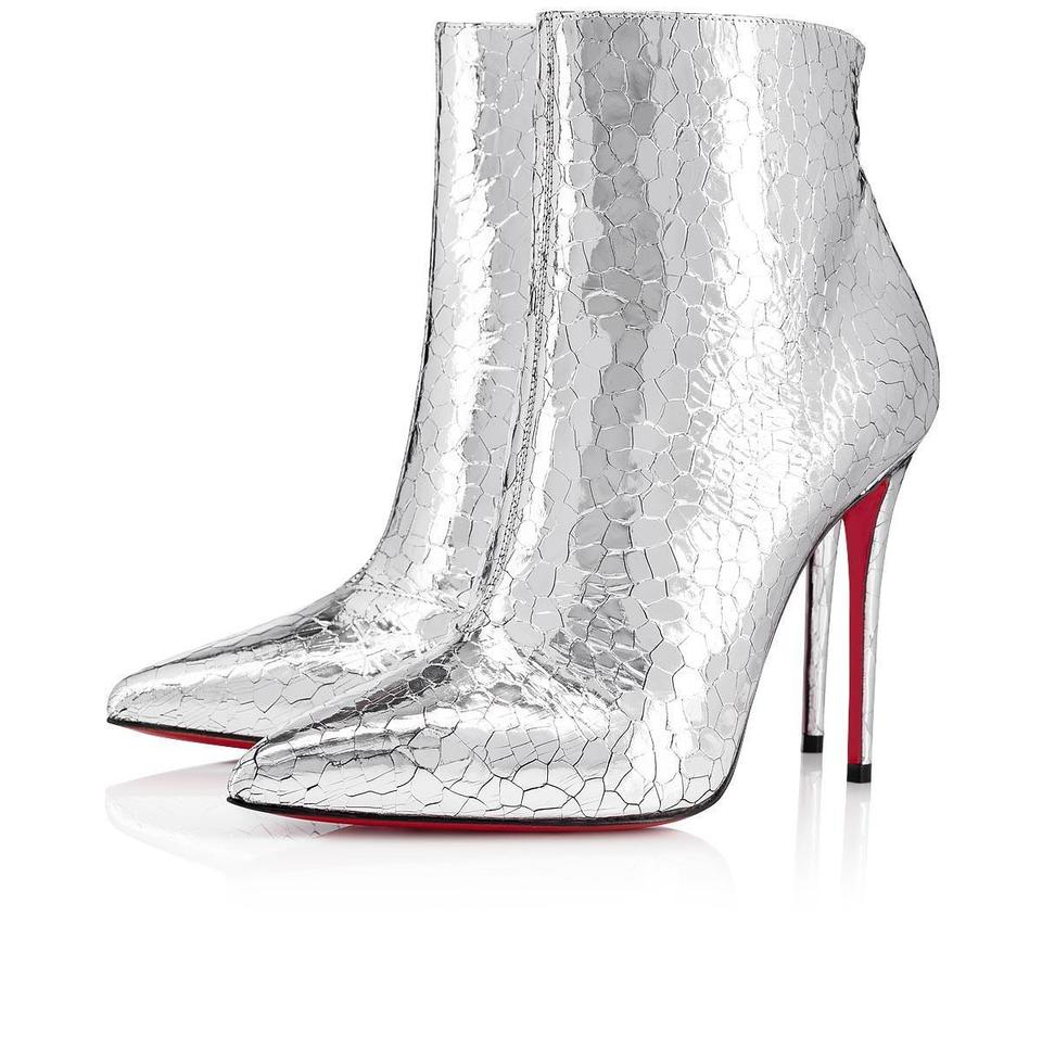best website 72b84 b2857 Christian Louboutin Silver So Kate 100 Specchio Martele Stiletto Heel Ankle  Boots/Booties Size EU 38.5 (Approx. US 8.5) Regular (M, B)